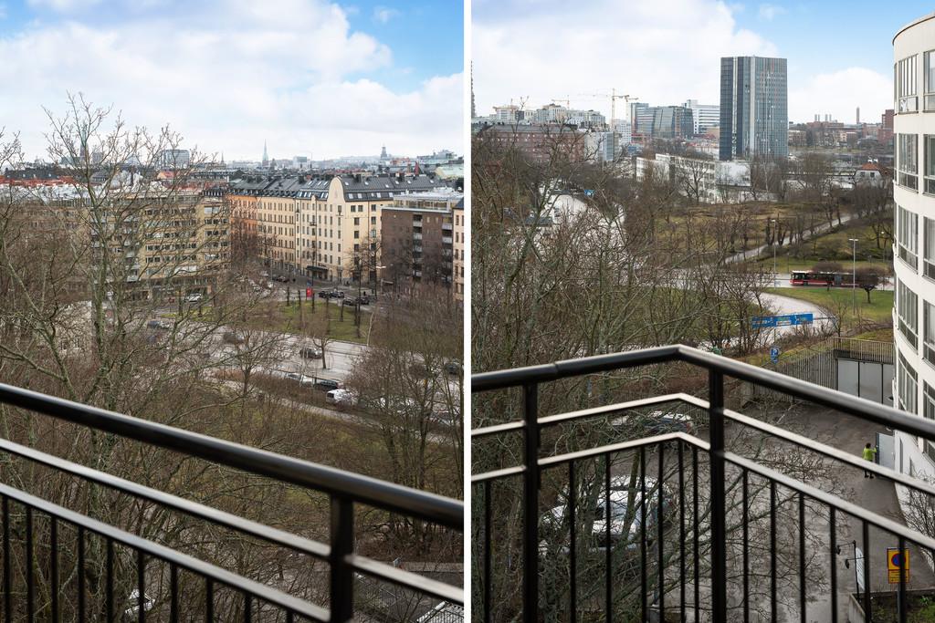 Tre balkonger