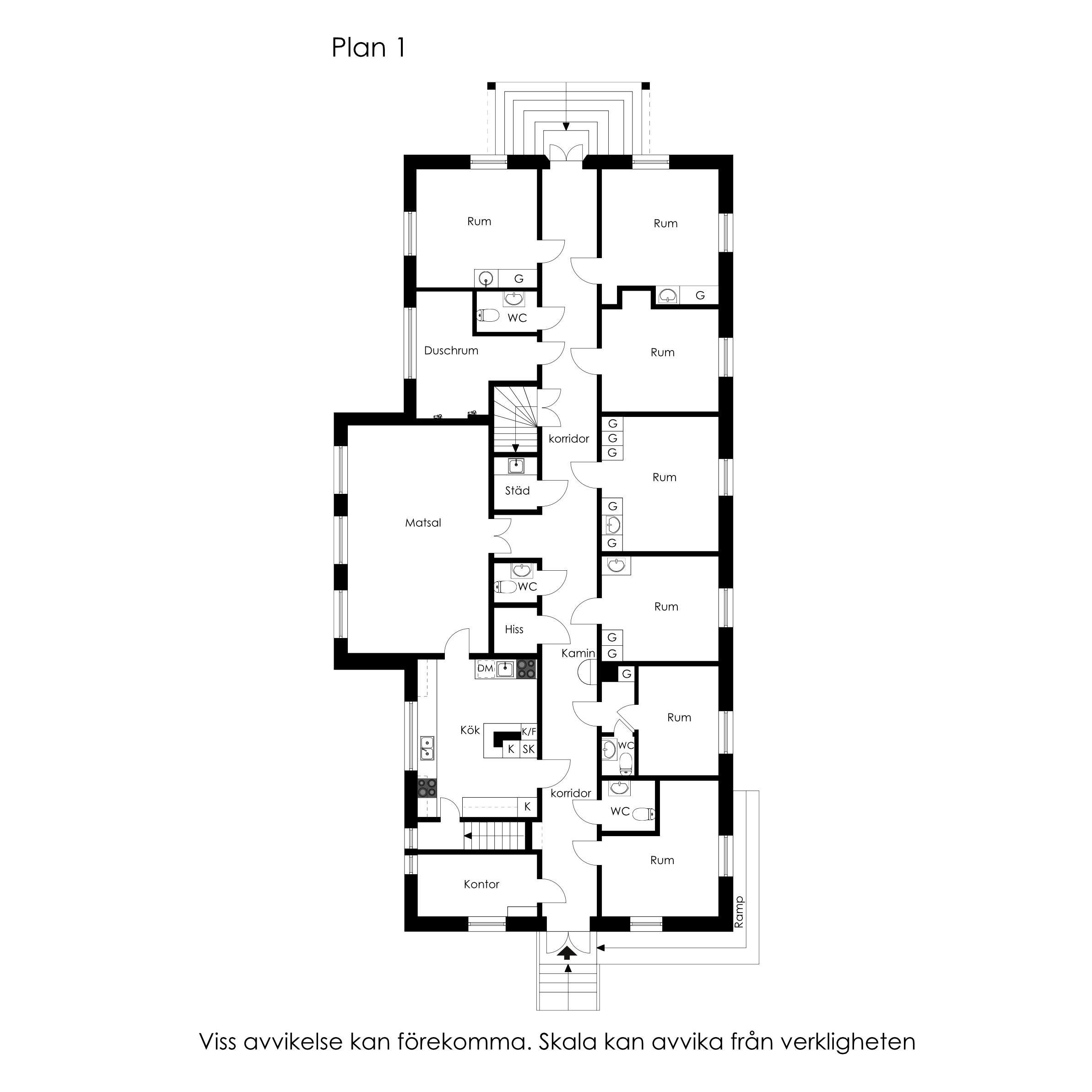 Planlösning - Plan 1
