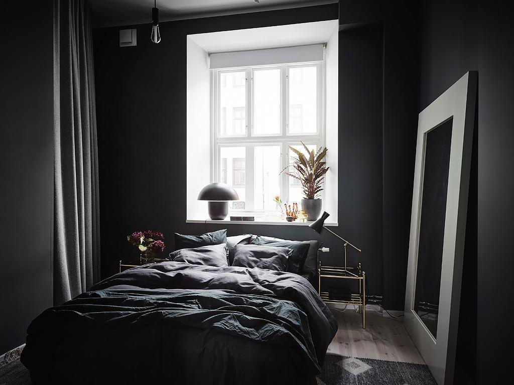 Une chambre plongée dans le noir