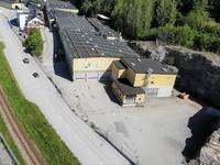 Industribyggnadens södra fasadsida