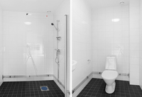 Helkaklat separat dusch och wc