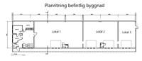 Planritning befintlig byggnad