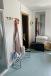 Badrum med dusch och bastu