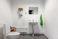 Utrustad med wc, dusch och omklädningsrum