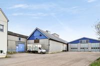 Kontor, verkstad, lager och uppställning vid Kvarnby golfbana